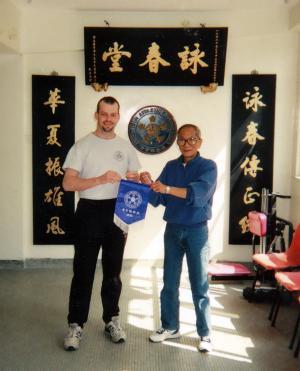 Grandmaster Ip Chun with Sifu Gordon, 1995
