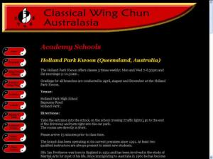 Classical Wing Chun Australasia: Schools - Holland Park