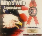 AMAA Who's who in martial arts Hall of Fame