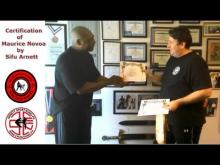 Embedded thumbnail for Maurice Novoa recieving his certification from Sifu Anthony Arnett
